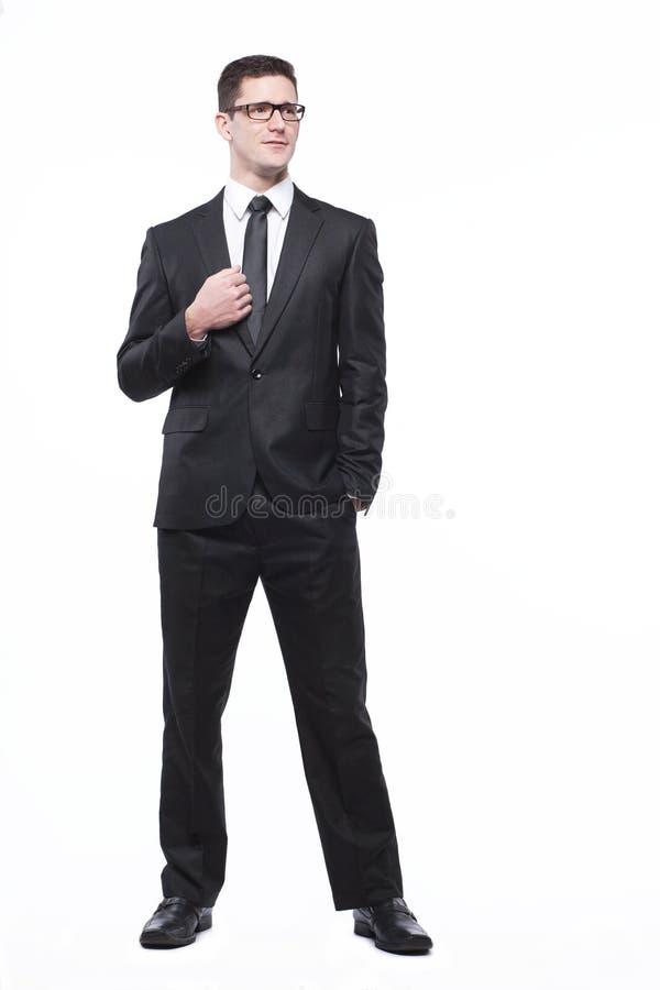 Download Geschäftsmann In Der Schwarzen Klage Auf Weiß. Stockbild - Bild von überzeugt, geschäft: 26355313