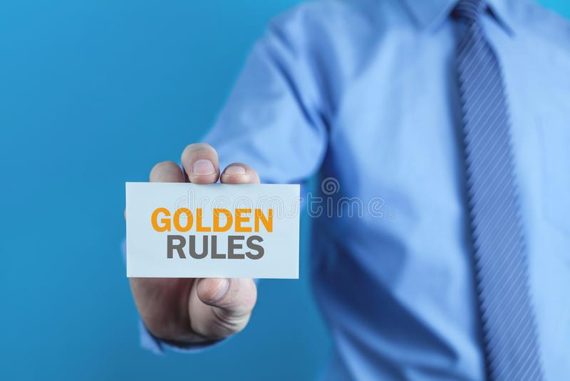 Goldene Regeln Auf Der Tafel Mit Kreide Stockbild Bild
