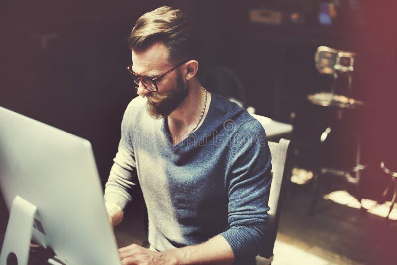 Geschäftsmann-Determine Ideas Working-Plan-Konzept lizenzfreies stockbild