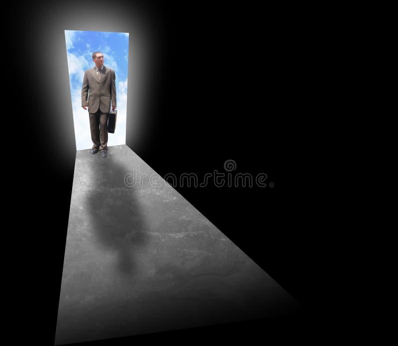 Geschäftsmann-Erfolgs-Gelegenheit lizenzfreies stockbild