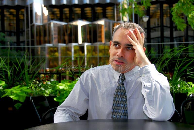Geschäftsmann frustriert lizenzfreie stockbilder