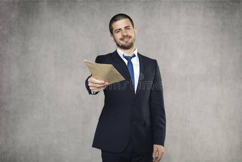 Geschäftsmann geben ein Bestechungsgeld stockfoto