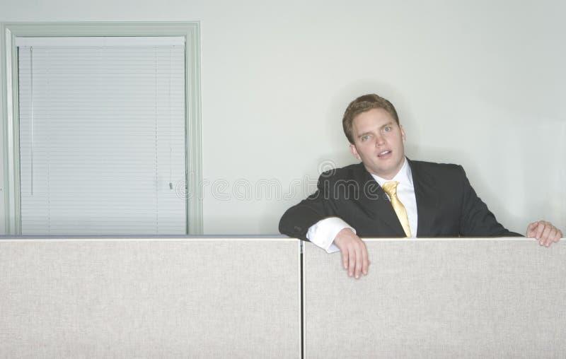 Geschäftsmann gebohrt lizenzfreies stockbild