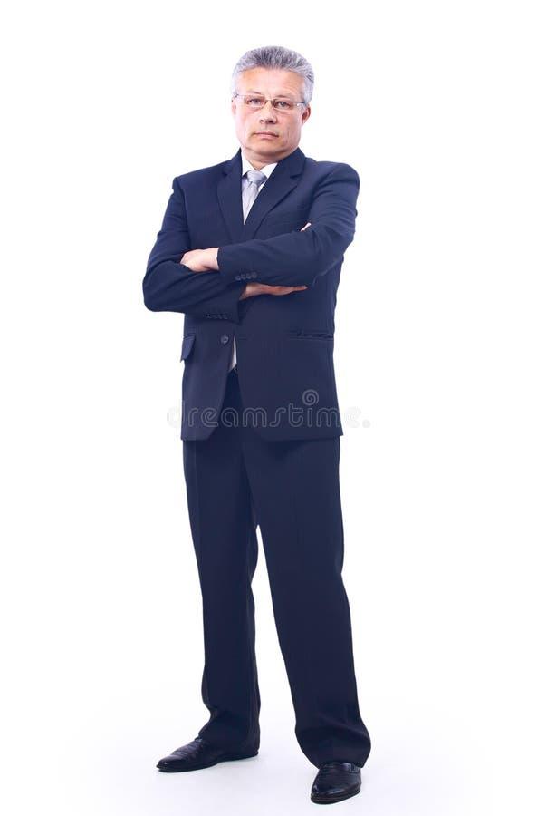 Geschäftsmann. Getrennt über Weiß lizenzfreies stockbild