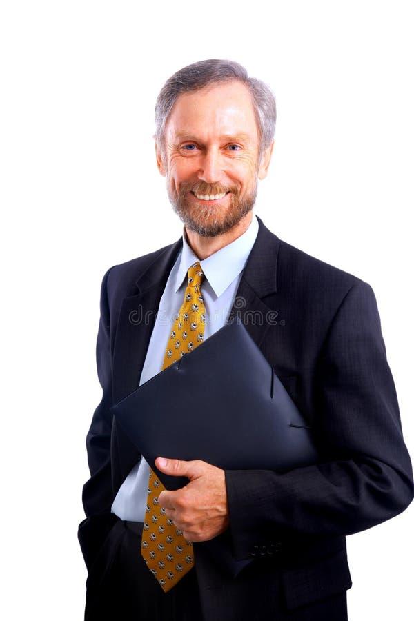 Geschäftsmann getrennt stockfotografie