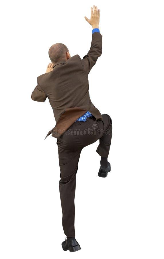 Geschäftsmann getrennt auf dem weißen Hintergrund lizenzfreie stockfotos
