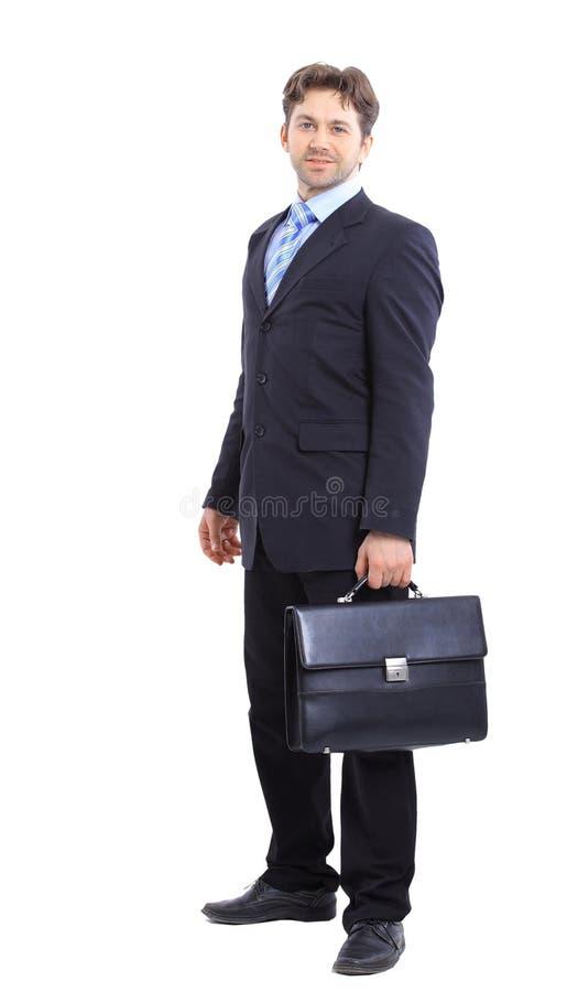 Geschäftsmann getrennt auf Weiß stockbild