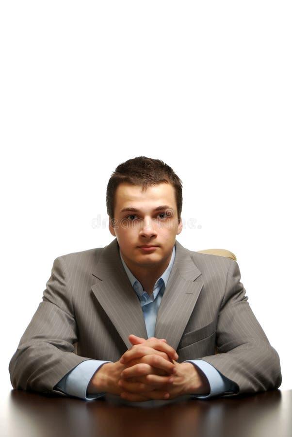 Geschäftsmann getrennt gegen weißen Hintergrund lizenzfreies stockbild