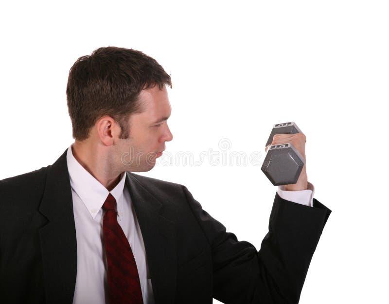 Geschäftsmann-Gewicht stockfotos