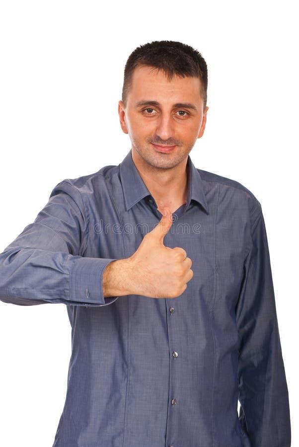 Geschäftsmann gibt Daumen auf lizenzfreie stockfotos