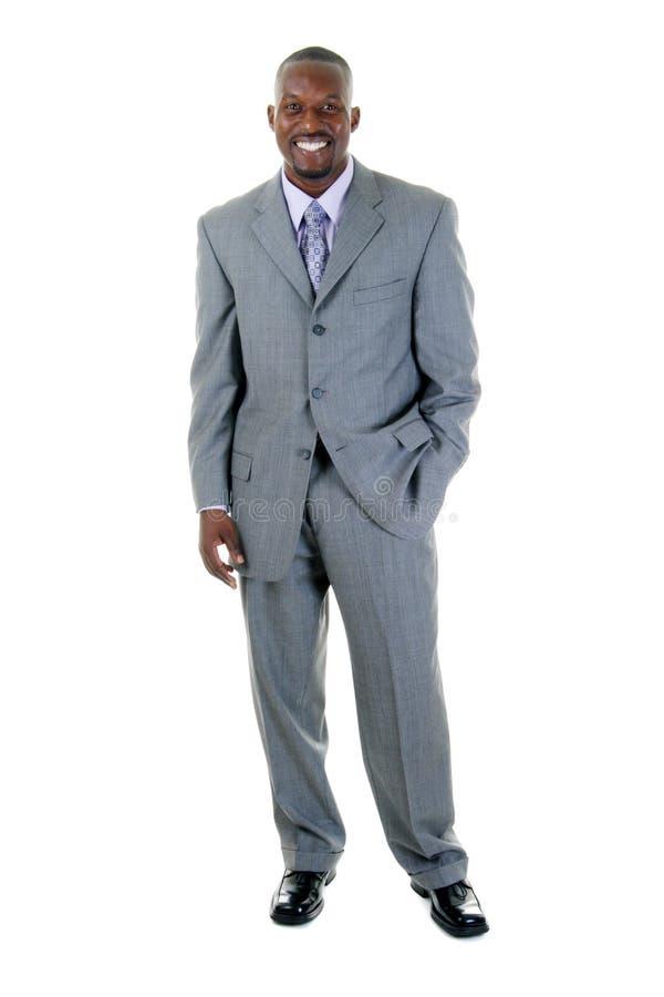 Geschäftsmann in grauer Klage 1 stockfoto