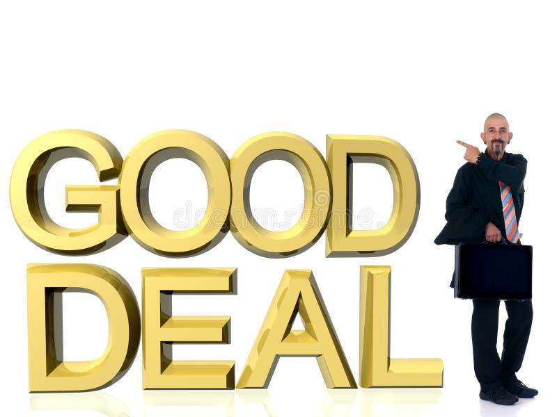 Geschäftsmann, gutes Abkommen lizenzfreie stockbilder