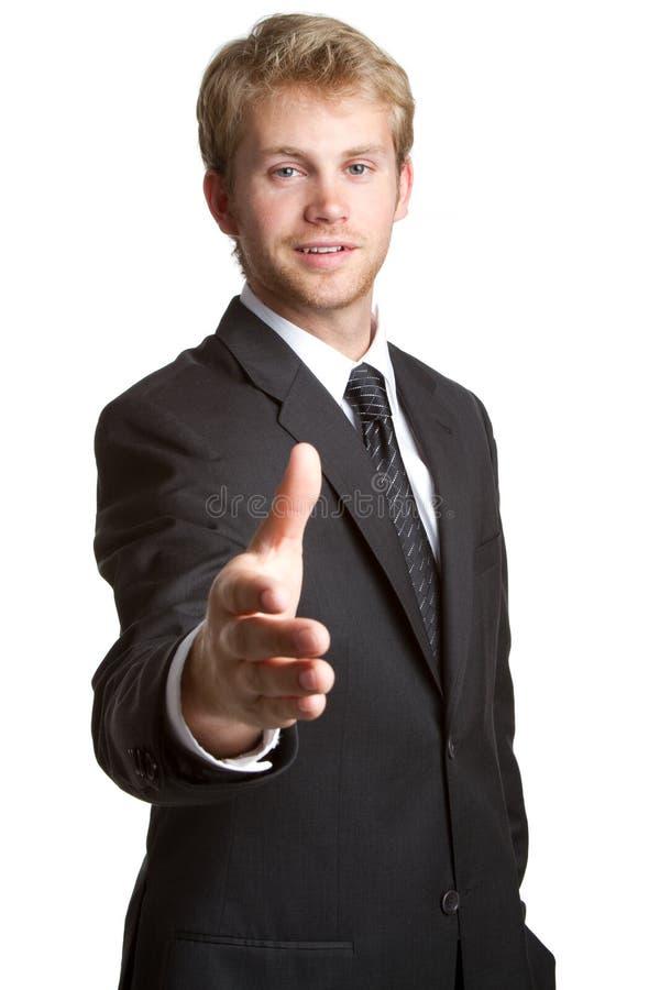 Geschäftsmann-Händedruck lizenzfreie stockfotos