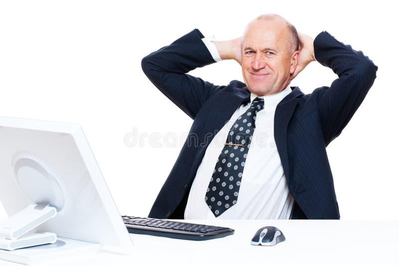 Geschäftsmann haben einen Bruch lizenzfreie stockbilder