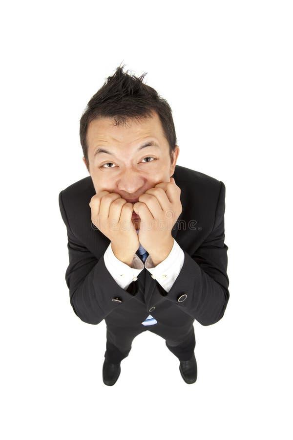 Geschäftsmann hat Angst stockfoto