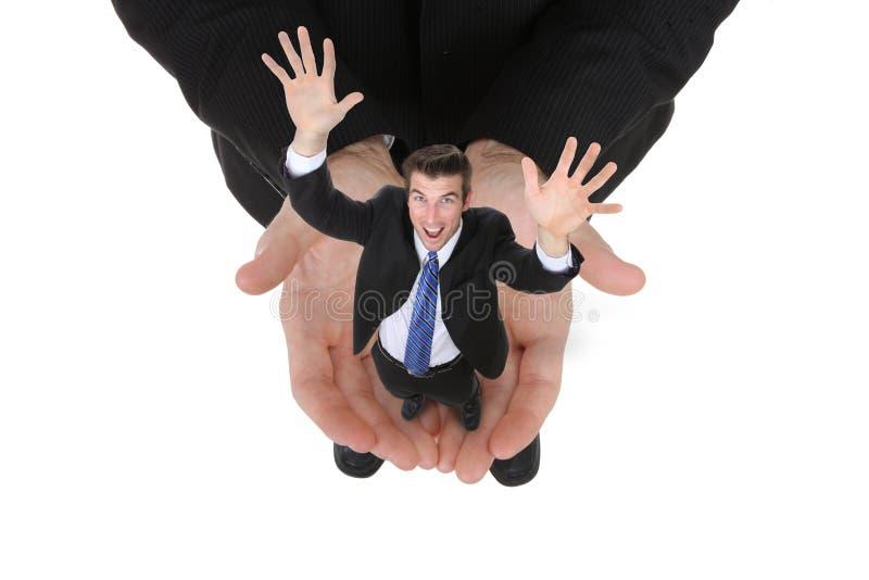Geschäftsmann-Holding-Erfolg lizenzfreie stockfotos