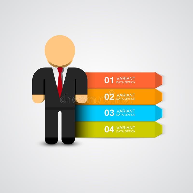 Geschäftsmann infographics mit Wahlen Auch im corel abgehobenen Betrag lizenzfreie abbildung