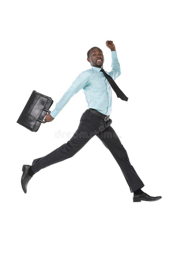 Geschäftsmann Jumping stockbild