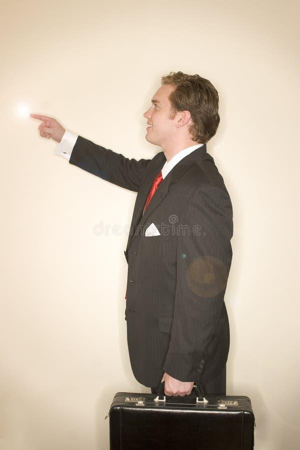 Geschäftsmann in Leistunghaltung 11 stockbild