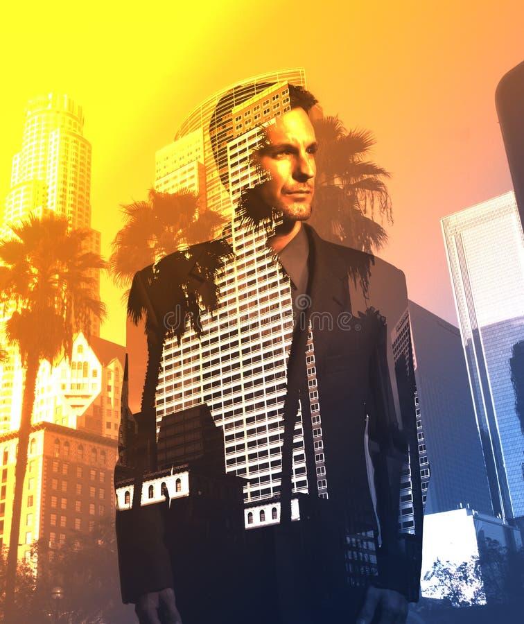 Geschäftsmann in Los Angeles lizenzfreies stockbild