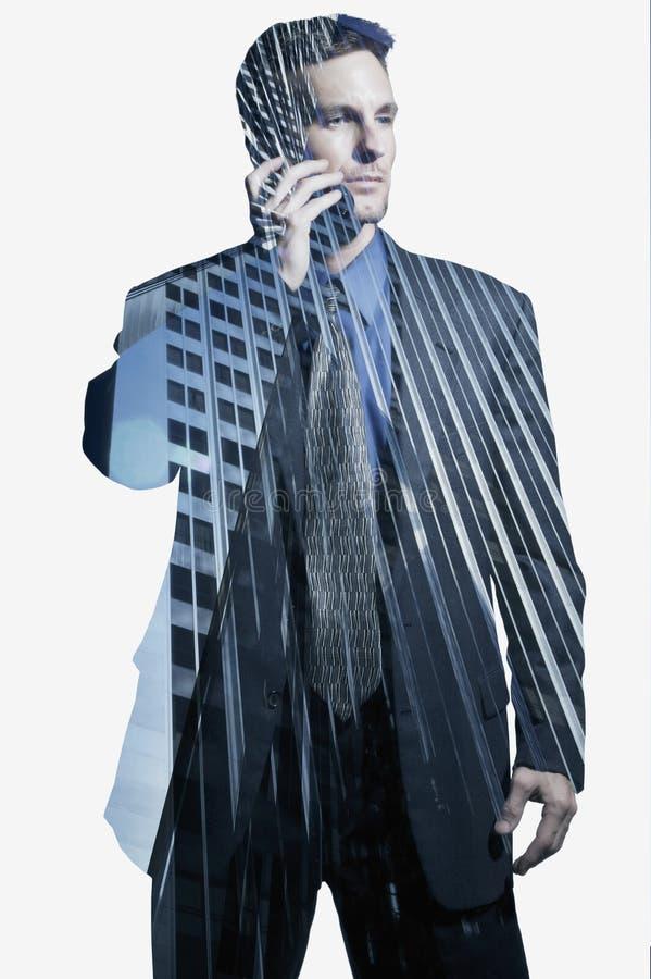 Geschäftsmann in Los Angeles lizenzfreie stockbilder