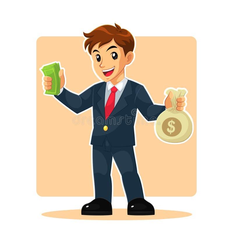 Geschäftsmann Mascot Character stockbild
