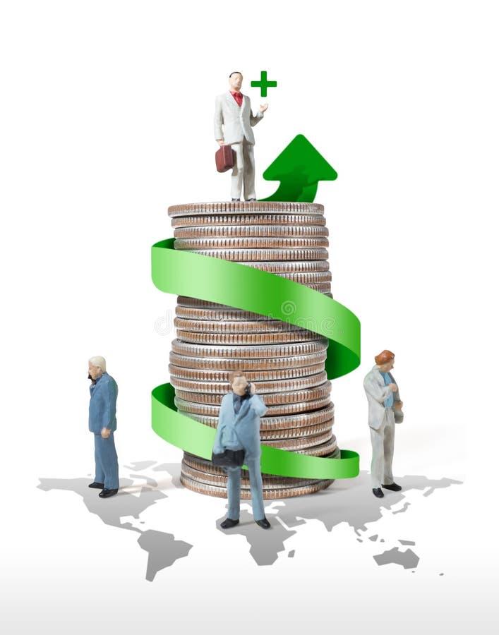 Geschäftsmann-Miniaturzahl Konzeptidee zum Erfolg lizenzfreie abbildung