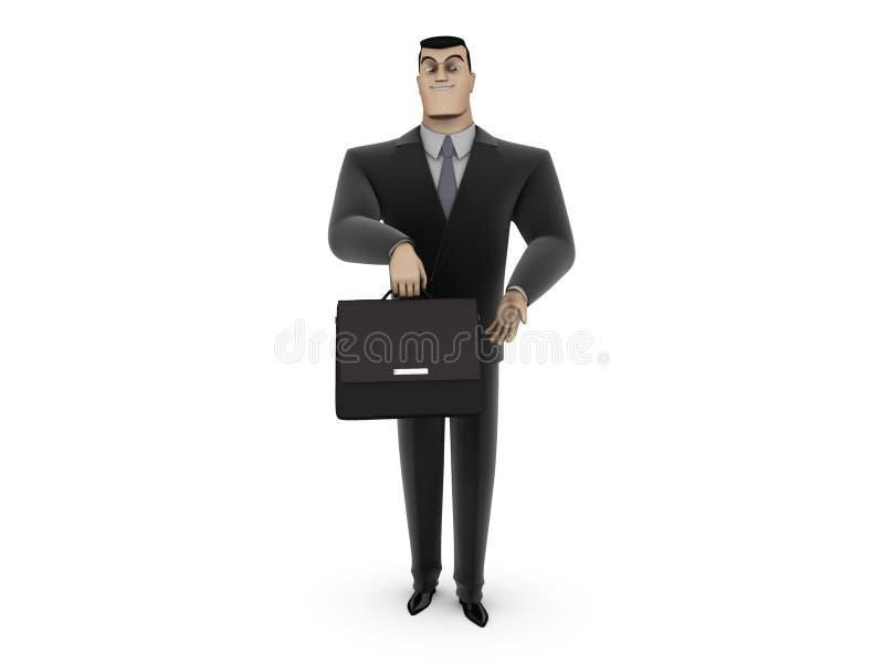 Geschäftsmann mit Aktenkoffer stock abbildung