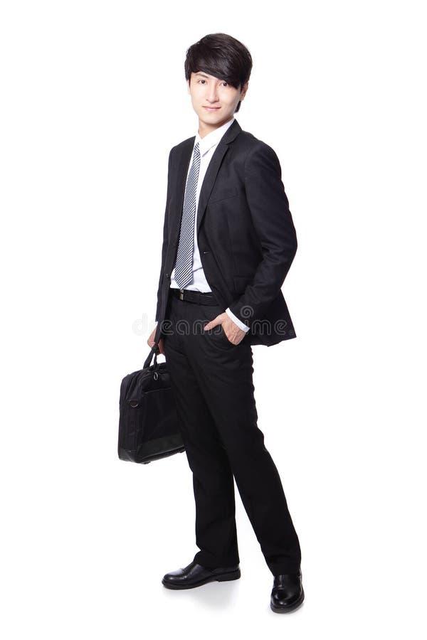 Geschäftsmann mit Aktenkoffer stockbilder