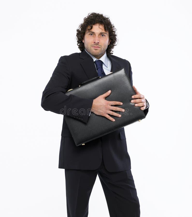 Download Geschäftsmann Mit Aktenkoffer Stockbild - Bild von karriere, schwarzes: 9087131
