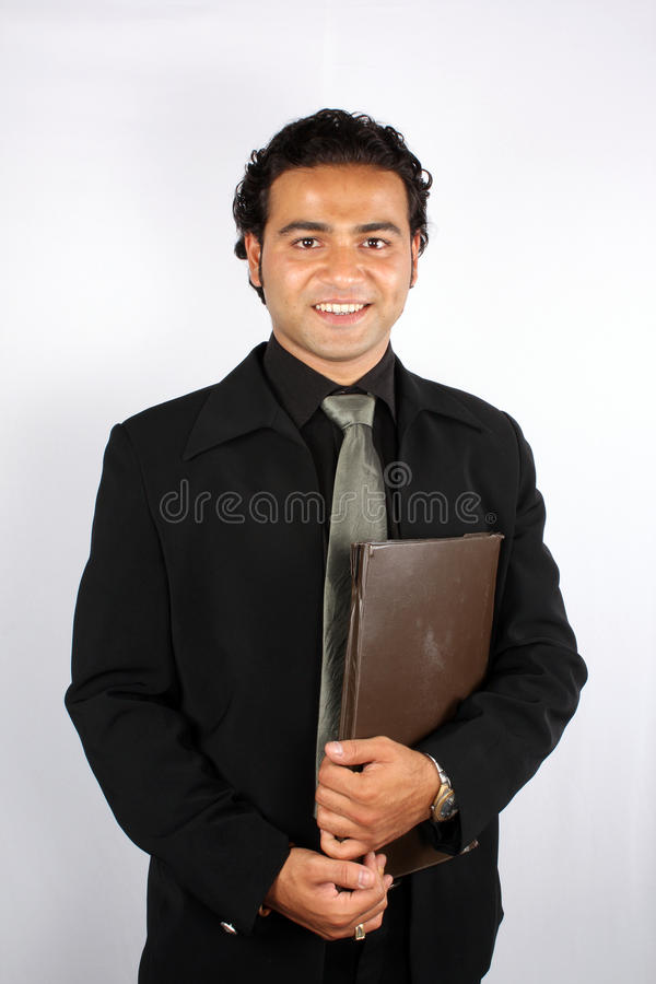 Geschäftsmann mit Datei lizenzfreies stockbild