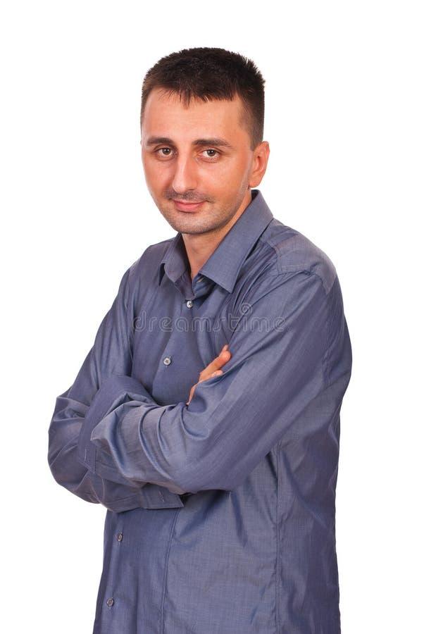 Geschäftsmann mit den Armen gefaltet lizenzfreie stockfotografie