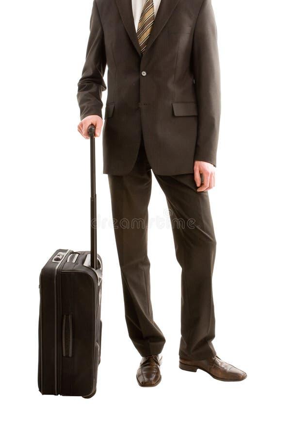 Geschäftsmann mit einem Koffer stockfotografie
