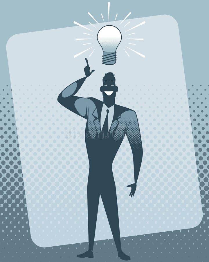 Geschäftsmann mit Idee lizenzfreie abbildung