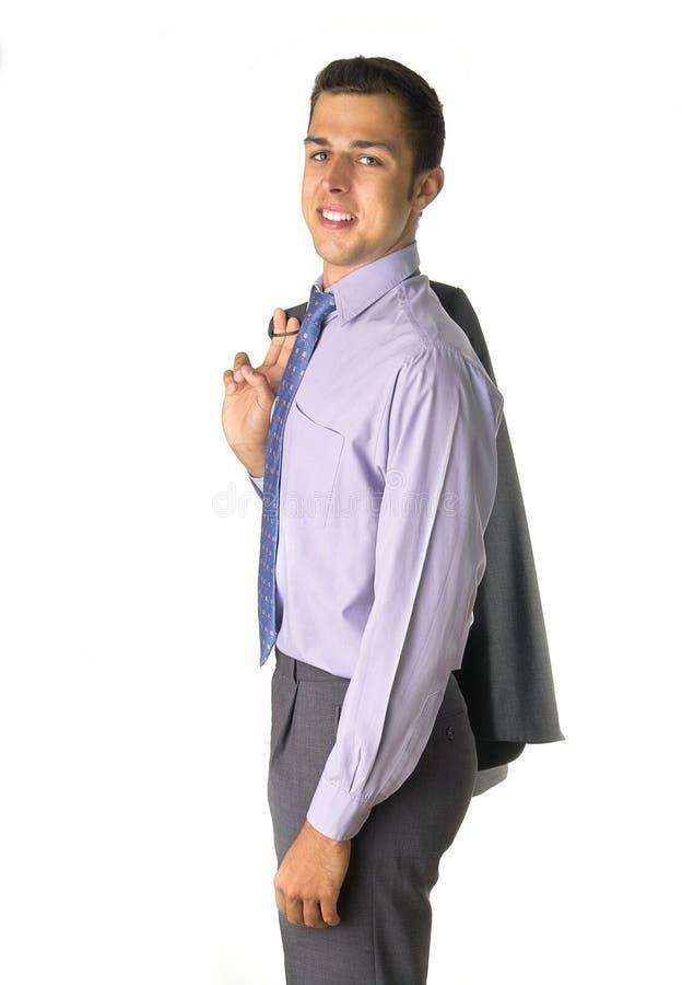 Geschäftsmann mit Jacke lizenzfreies stockfoto
