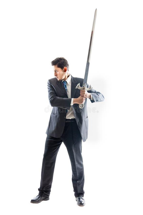 Geschäftsmann mit Klinge 2 lizenzfreie stockbilder