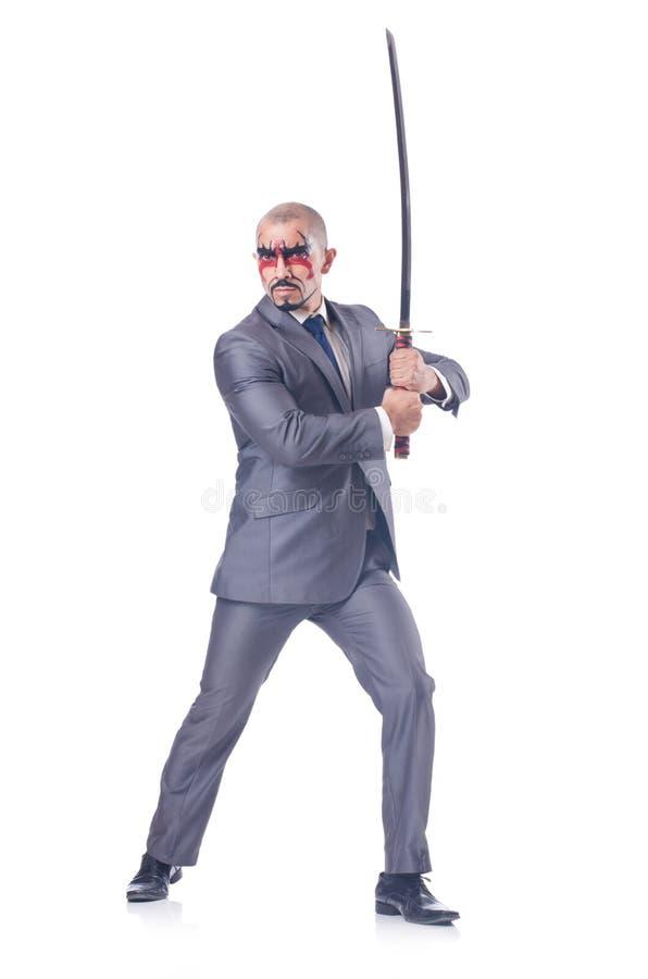 Geschäftsmann mit Klinge stockbilder