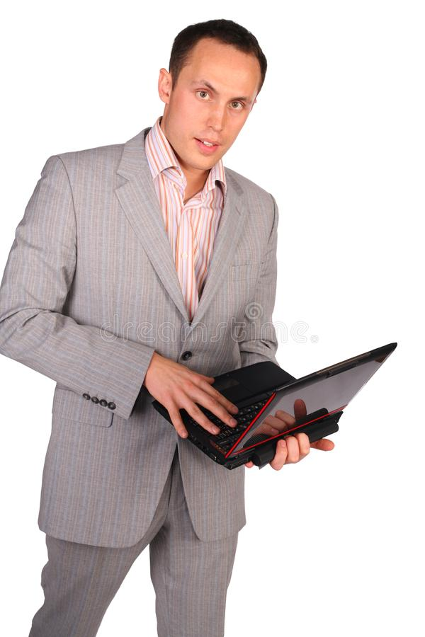 Geschäftsmann mit Notizbuch lizenzfreies stockbild