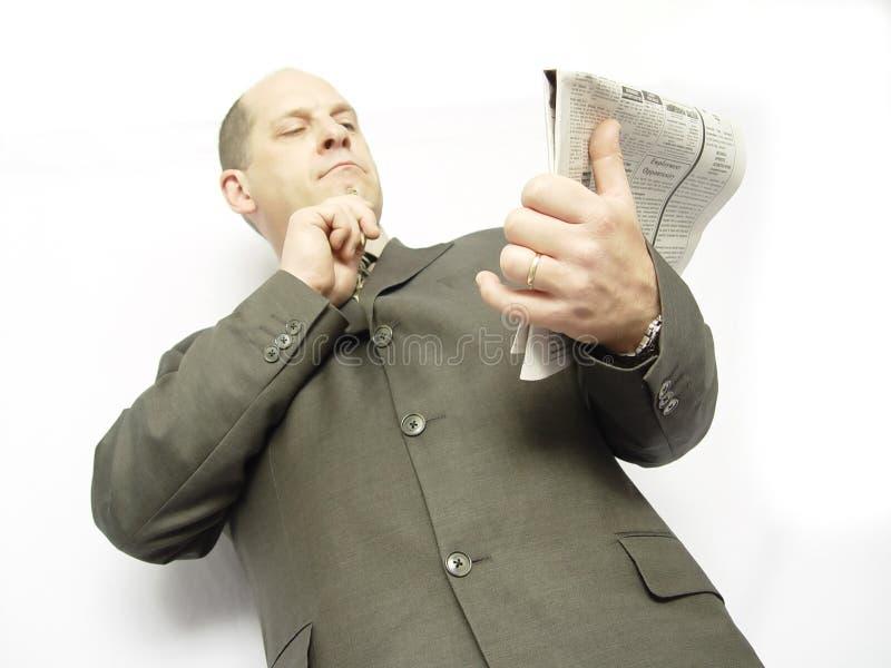 Geschäftsmann Mit Papier Stockfotos