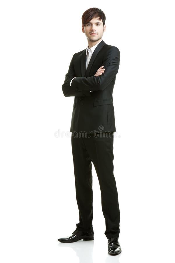 Geschäftsmann mit schwarzer Klage stockbilder