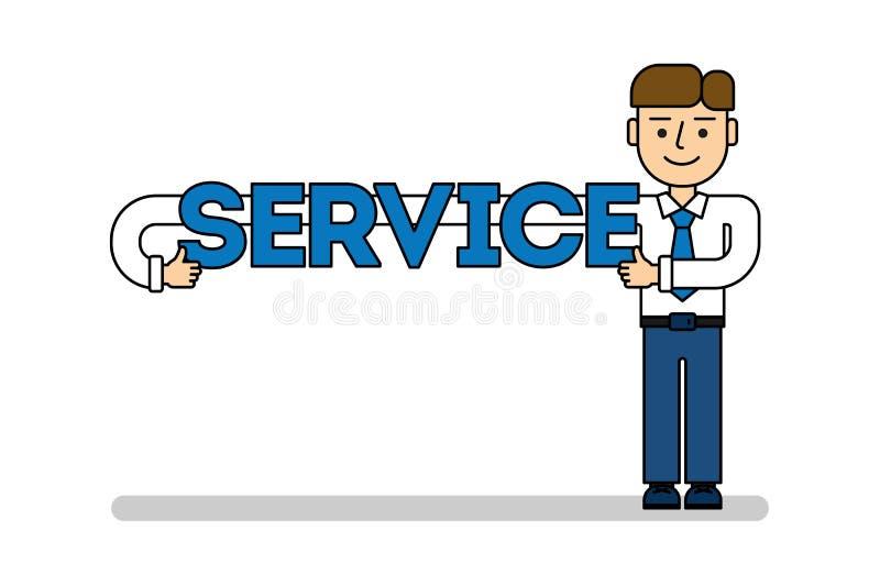 Geschäftsmann mit Service lizenzfreie abbildung