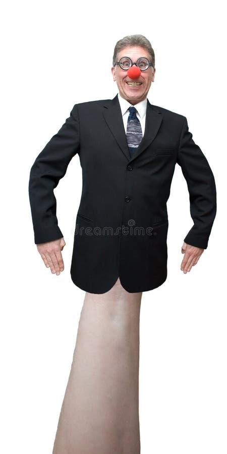 Geschäftsmann, Politican Clown-Handmarionette getrennt stockbilder
