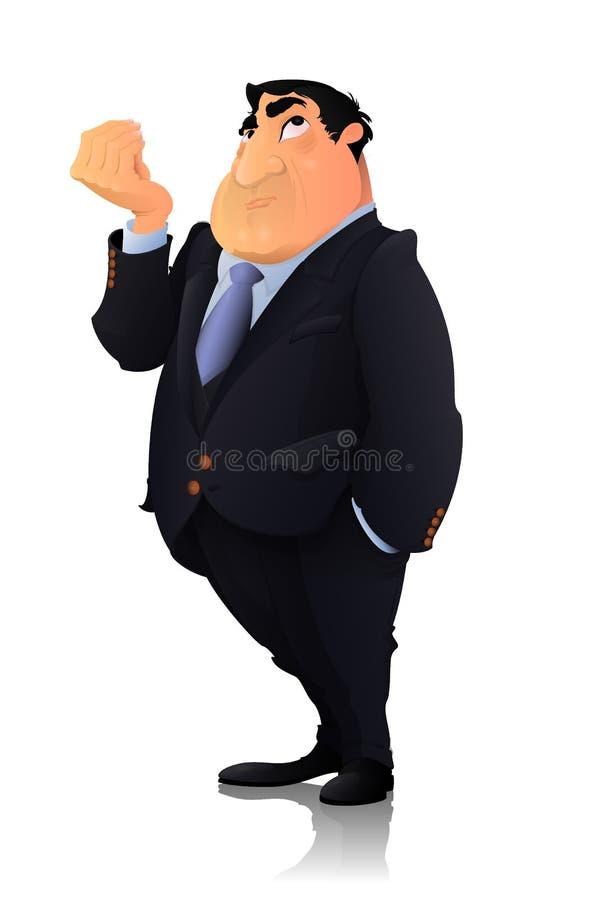 Geschäftsmann, Politikercharakter lizenzfreies stockfoto