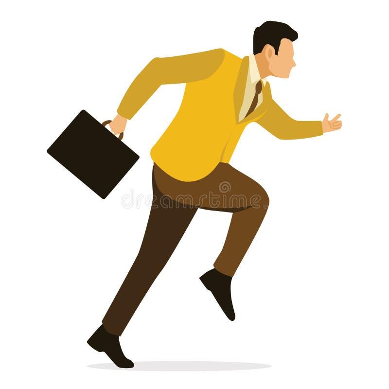 Geschäftsmann-Running Clipart Vcetor-Illustration lizenzfreie abbildung