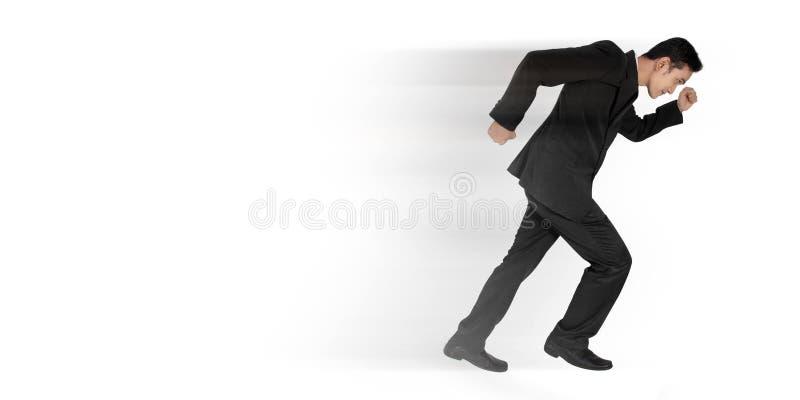 Geschäftsmann schnell laufen gelassen lizenzfreies stockbild
