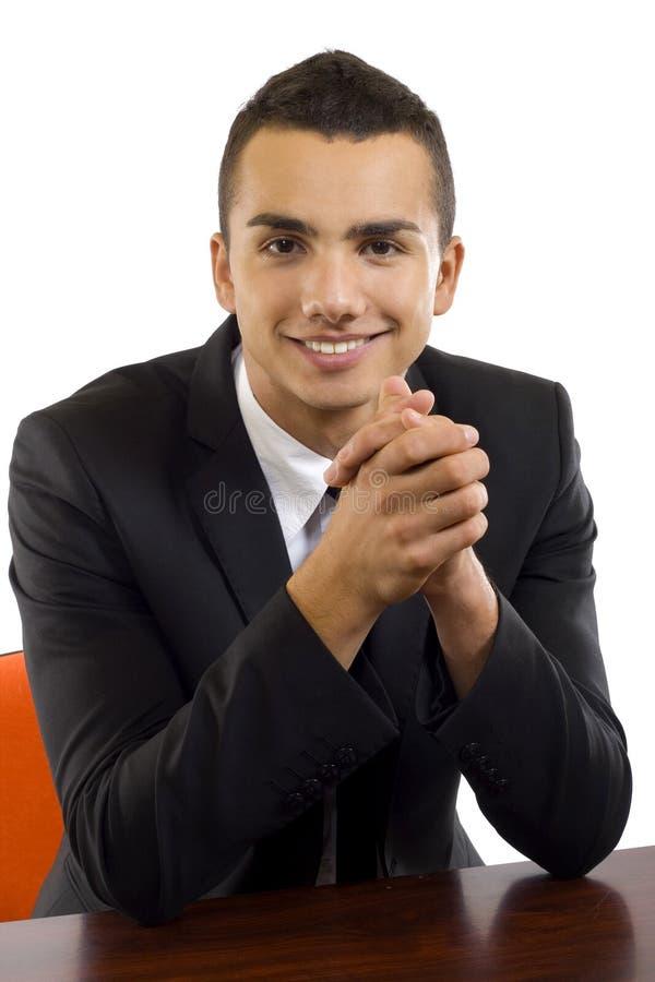 Geschäftsmann am Schreibtisch stockfotos