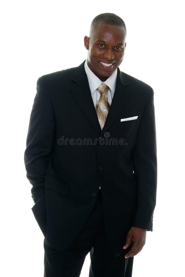 Geschäftsmann in schwarzer Klage 3 lizenzfreies stockbild