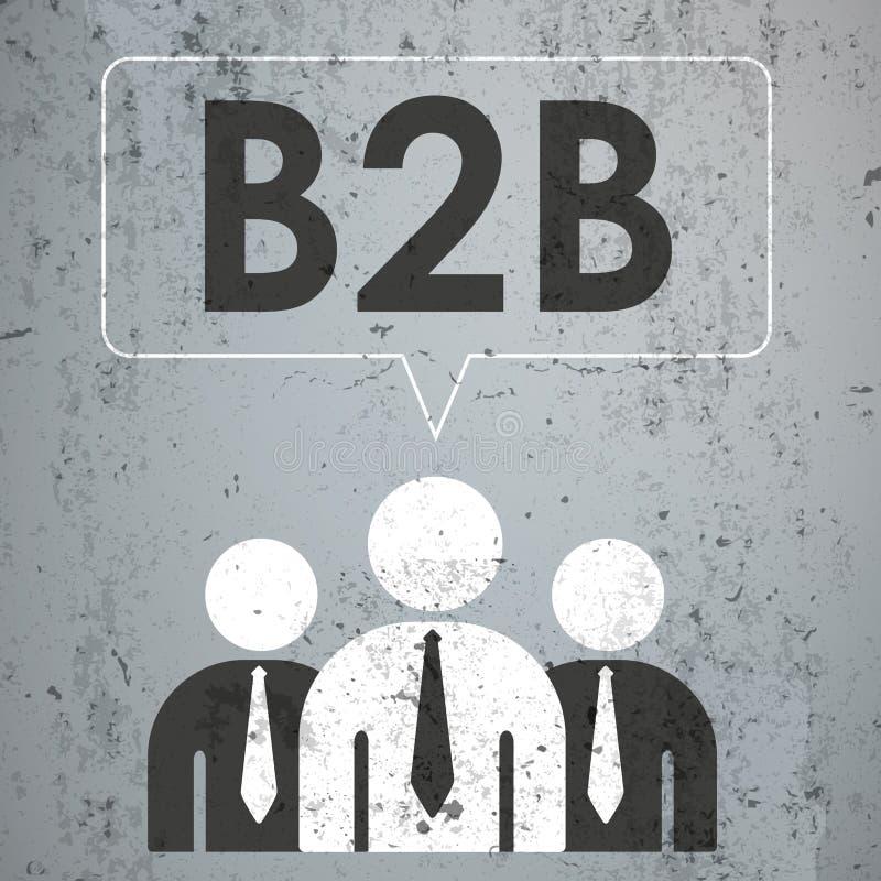 3 Geschäftsmann-Sprache-Blase konkretes b2b stock abbildung