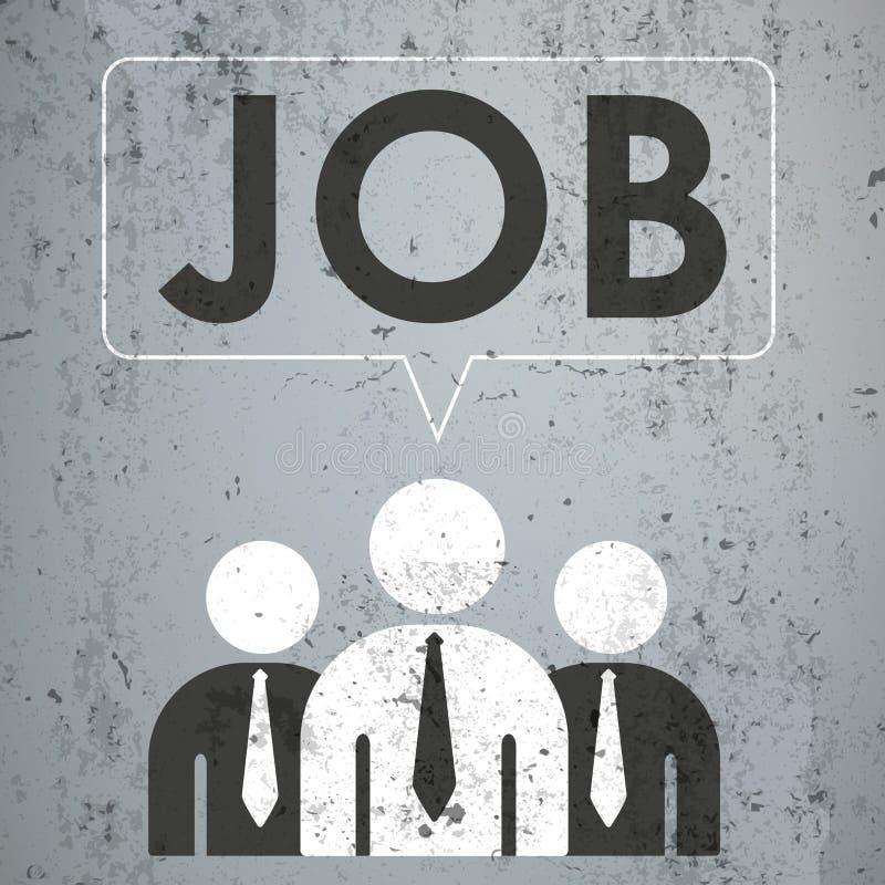 3 Geschäftsmann-Sprache-Blasen-Beton-Job vektor abbildung