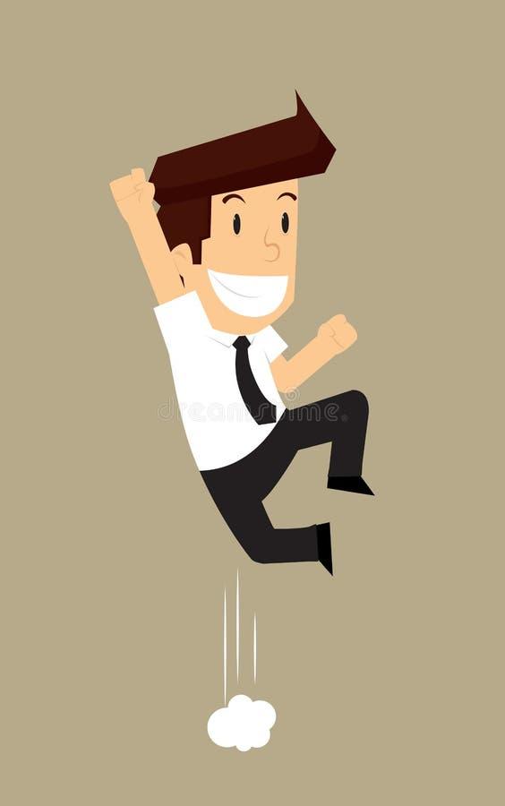 Geschäftsmann springen Ekstase lizenzfreie abbildung